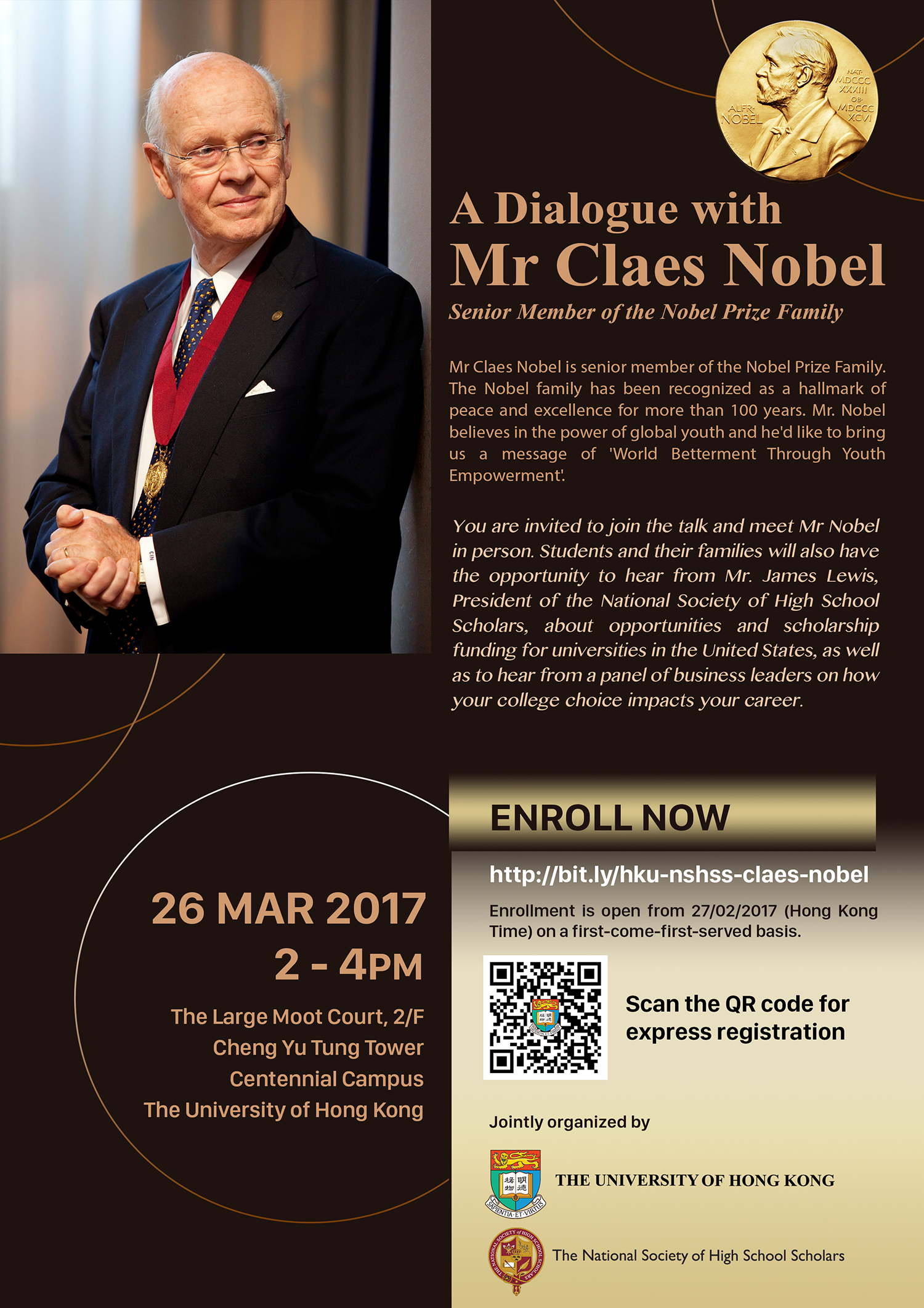 A Dialogue with Mr Claes Nobel, Senior Member of the Nobel Prize Family